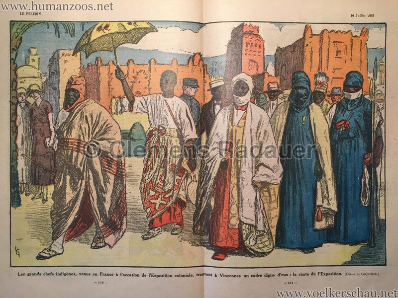 1931.07.19 Le Pèlerin - Exposition Coloniale - Les grandes chefs indigènes