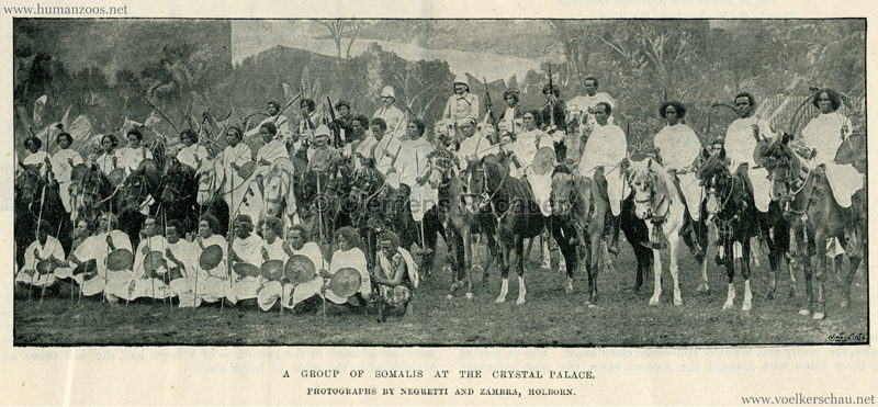 A Group of Somalis at the Crystal Palace