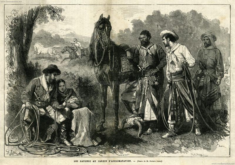 1878 les gauchos au jardin d acclimatation human zoos for Au jardin d acclimatation