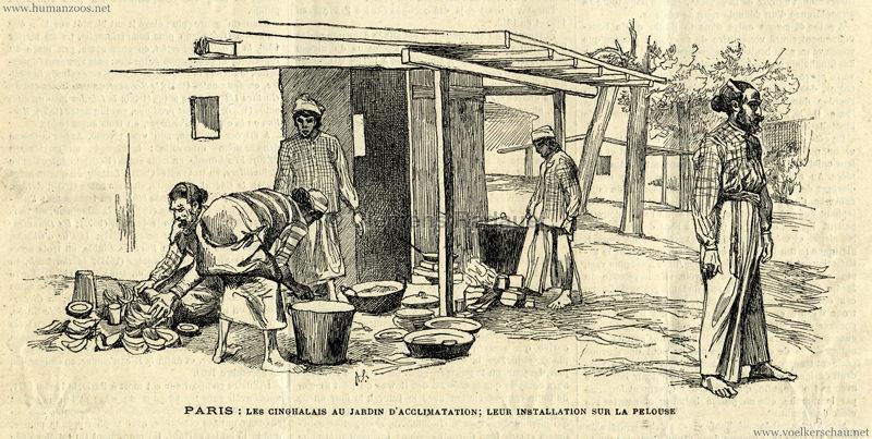 1883.07.01 Courrier de Meurthe & Moselle - Les Cinghalais au Jardin d'Acclimatation 1