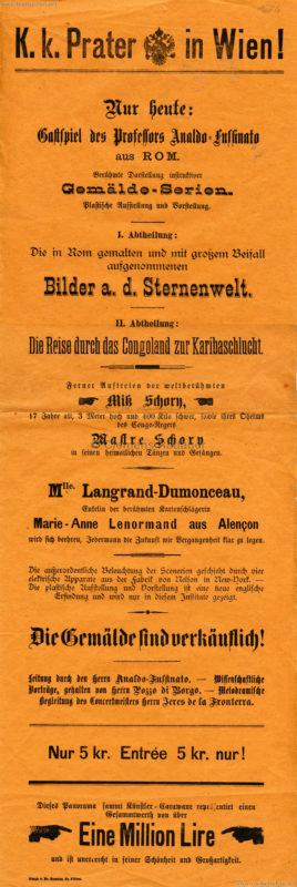 1886 K. k. Prater - Gemälde-Serien