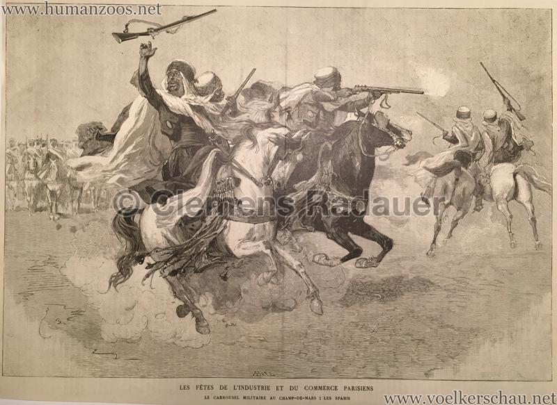 1886.05.29 L'Illustration N 2257 Le Carrousel militaire au Champs-de-Mars- Les Sepahis