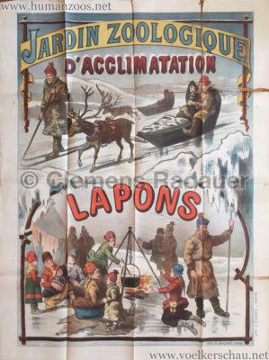 1889 Les Lapons au Jardin d'acclimatation POSTER