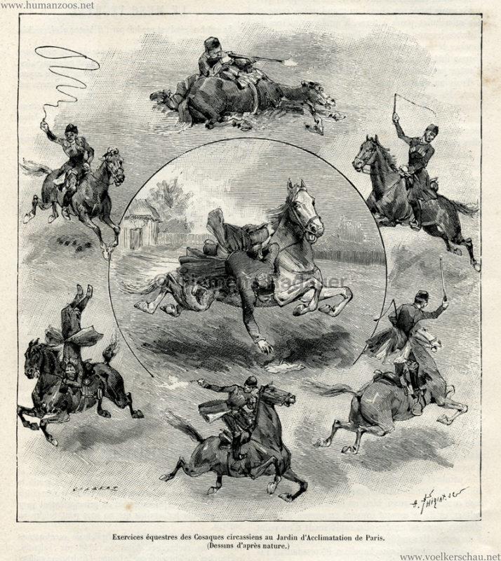 1889.01.12 La Nature No 815 - Les Cosaques du Kouban au Jardin d'Acclimatation de Paris S. 97 Detail