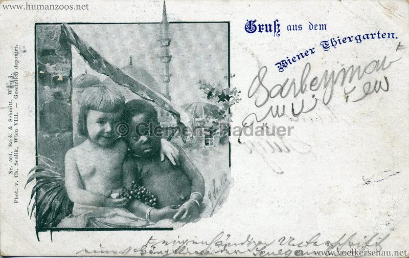1898 Gruß aus dem Wiener Thiergarten 2 gel. 17.10.1898 SENEGAMBIER