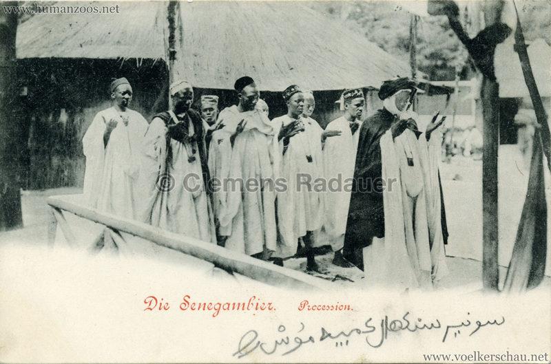 1899 Die Senegambier - Procession gel. 20.05.1899