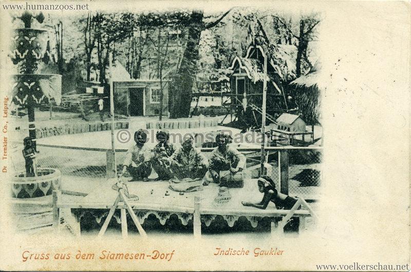 1899 Grüsse aus dem Siamesen-Dorf - Indische Gaukler VS