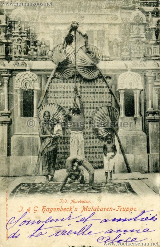 1900 1901 J. & G. Hagenbeck's Malabaren-Truppe -