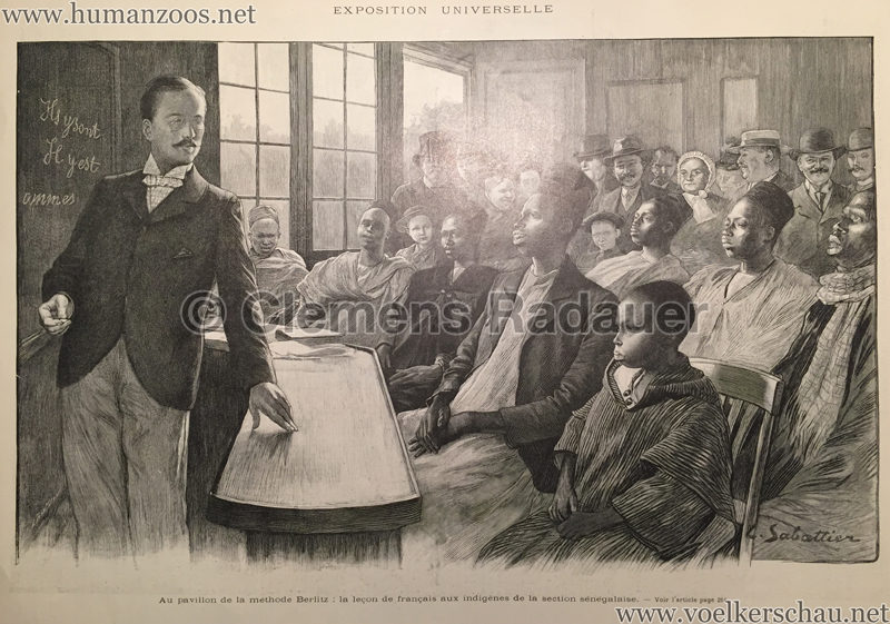1900.10.06 L'Illustration N. 3006 - Au pavillon de la methode Berlitz