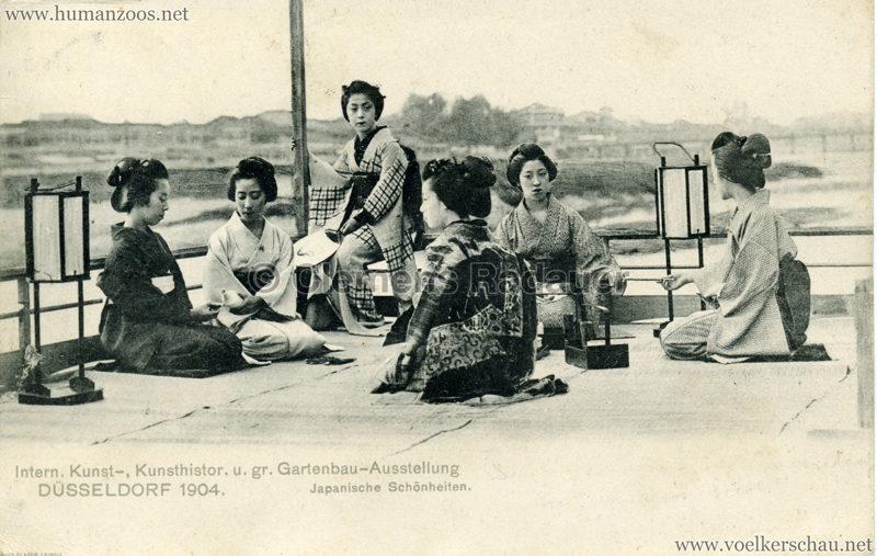 1904 Internationale Kunst-, Kunsthistor. u. gr. Gartenbau-Ausstellung Düsseldorf - Japanische Schönheiten gel. 30.05.1904