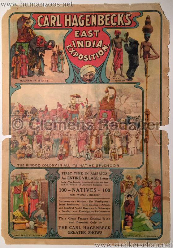 1906 Carl Hagenbeck's East India Exhibition