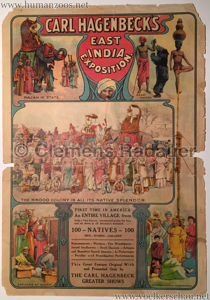 1906 Carl Hagenbeck's East India Exhibition
