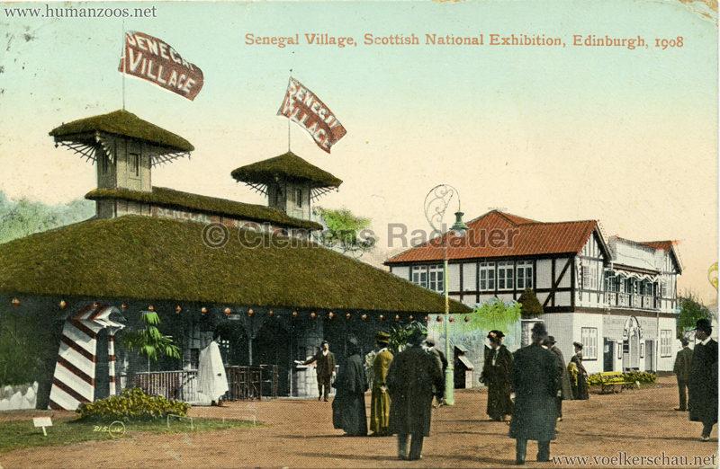 1908 Scottish National Exhibition - Senegalese Village colour