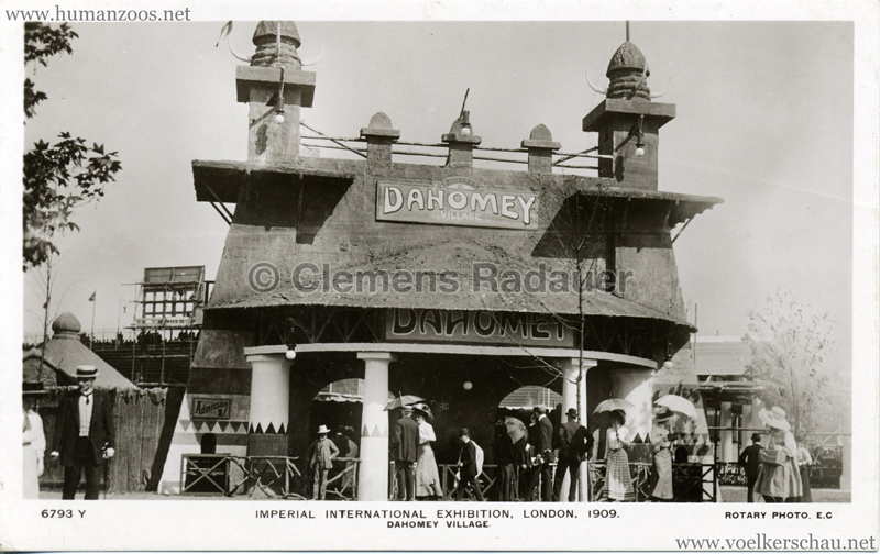 1909 Imperial International Exhibition - Dahomey Village 6, Imperial International Exhibition, 1909, White City, London