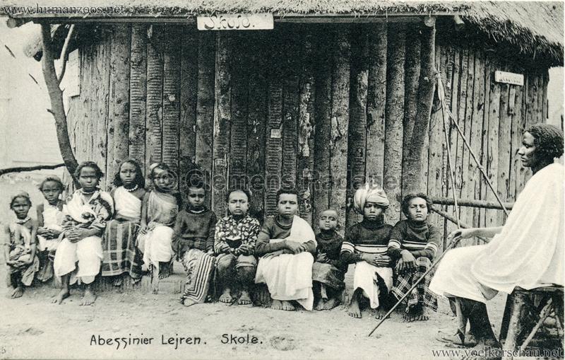 1909:1910 Abessinier Lejren - Skole