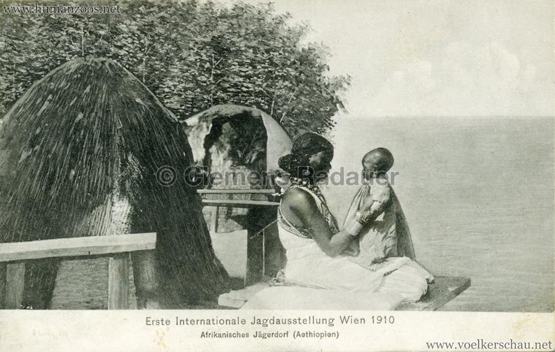 1910 Erste Internationale Jagdausstellung Wien - Afrikanisches Jägerdorf (Äthiopien) 11 VS