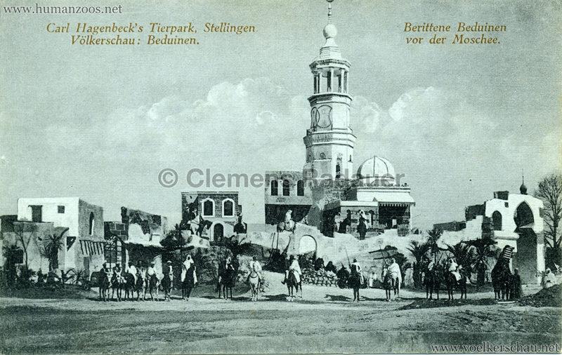 1912 Völkerschau Beduinen - Berittene Beduinen vor der Moschee 2