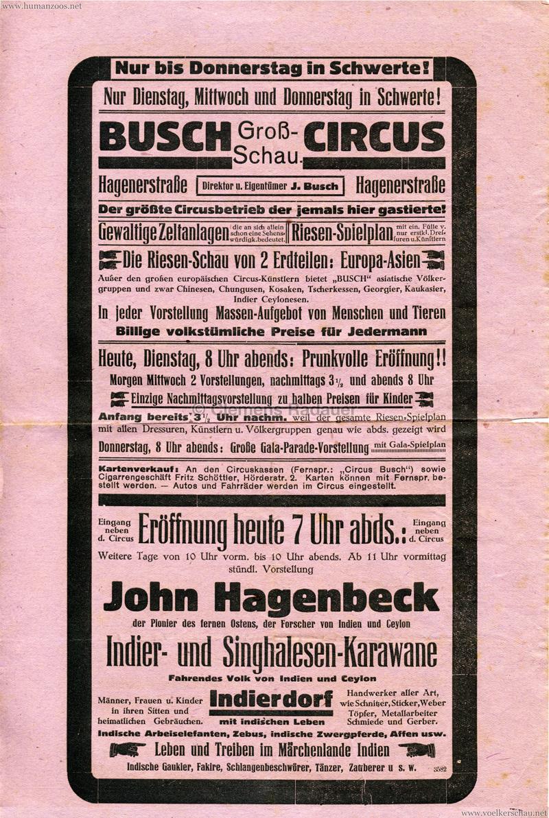 1930 Circus Busch - John Hagenbeck Indier- und Singhalesen-Karawane
