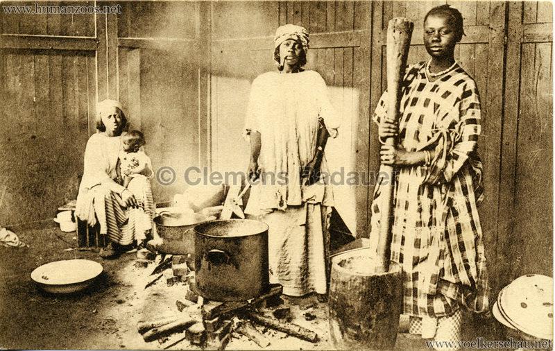 1930 Exposition d'Anvers - Village Africain - La Cuisine