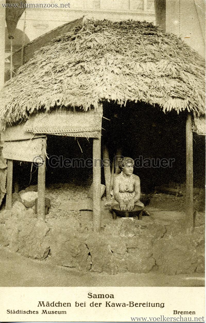 Bremen Städtisches Museum - Samoa - Mädchen bei der Kawa-Bereitung