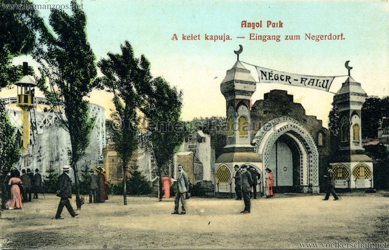 1912 Angol Park - Eingang zum Negerdorf col 1
