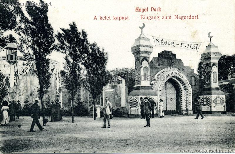1912 Angol Park - Eingang zum Negerdorf sw 1