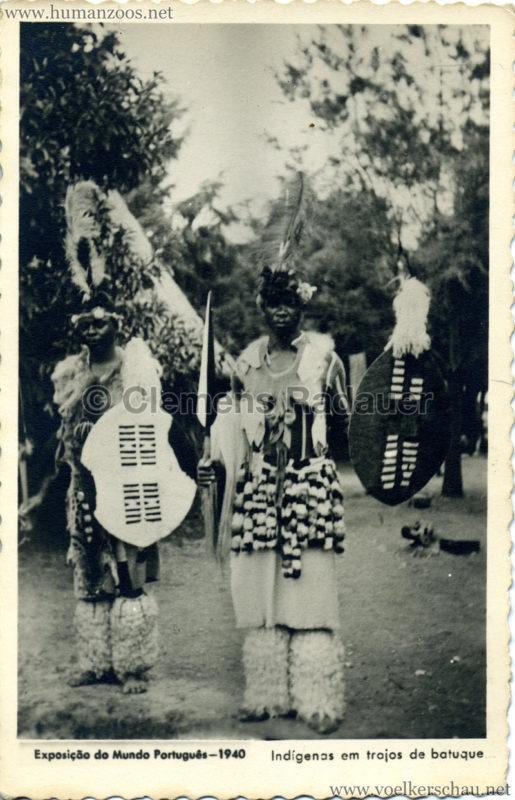 1940 Esposiçao do Mundo Portugués - Indigenas em trajos de batuque