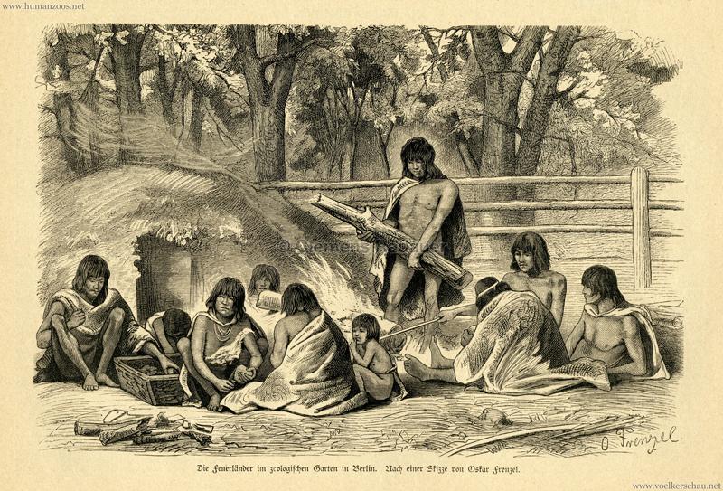 1882 Die Feuerländer im zoologischen Garten in Berlin