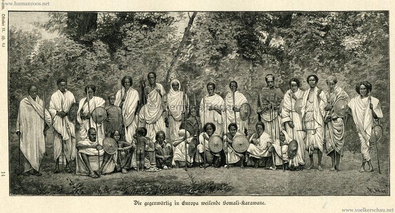 1890 Ueber Land und Meer S. 209 - Die gegenwärtig in Europa weilende Somali-Karawane
