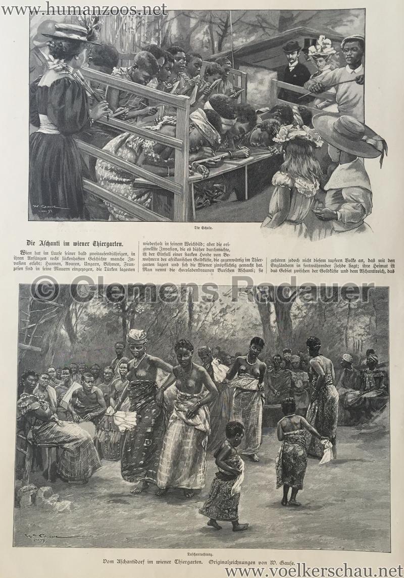 1897.09.05 Illustrirte Zeitung No. 2823 S. 189 - Die Aschanti im wiener Thiergarten S. 190