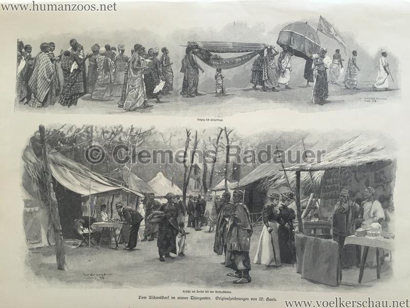 1897.09.05 Illustrirte Zeitung No. 2823 S. 189 - Die Aschanti im wiener Thiergarten S. 192
