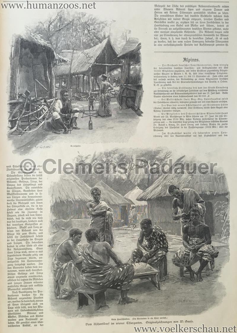 1897.09.05 Illustrirte Zeitung No. 2823 S. 189 - Die Aschanti im wiener Thiergarten S. 193
