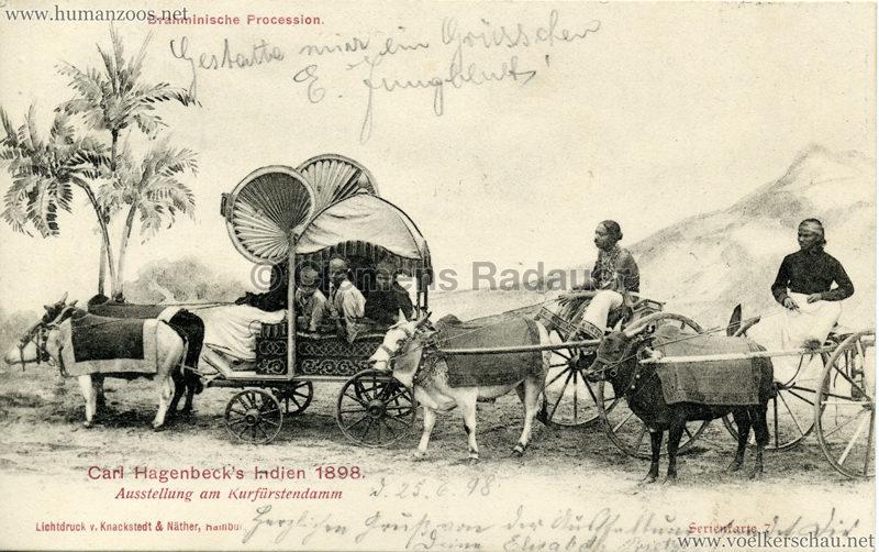 1898 Carl Hagenbeck's Indien - Brahminische Procession Serienkarte 7 gel. 25.06.1898