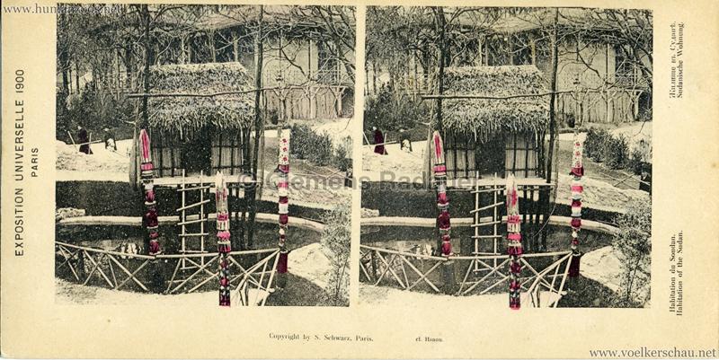 1900 Exposition Universelle de Paris - Habitation du Soudan STEREO