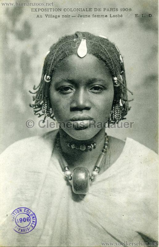 1906 Exposition Coloniale Paris - Village Noir - Jeune femme Laobe