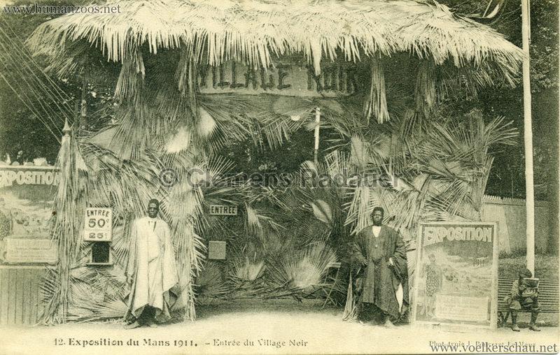 1911 Exposition du Mans - Entree du Village Noir