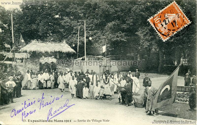 1911 Exposition du Mans - Le Village Noir - 19. Sortie du Village Noir