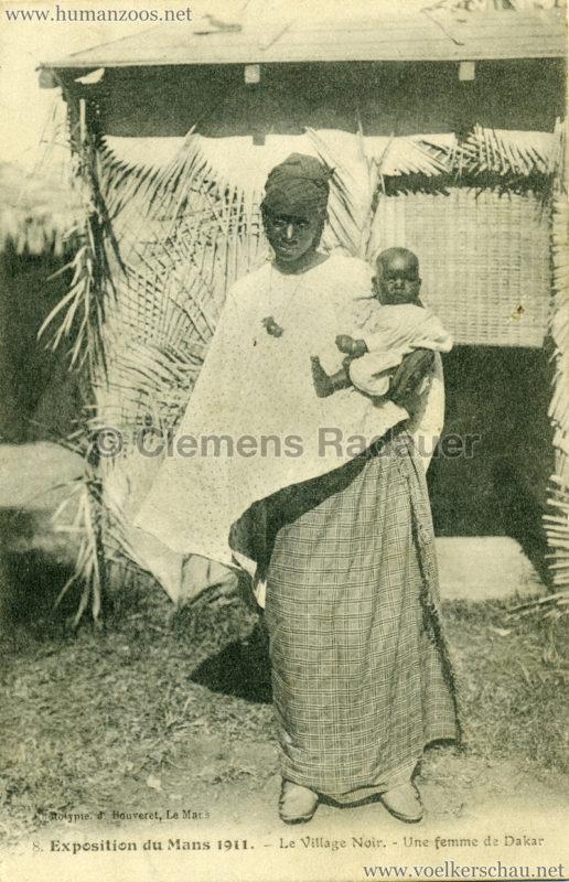 1911 Exposition du Mans - Le Village Noir - 8. Une femme de Dakar