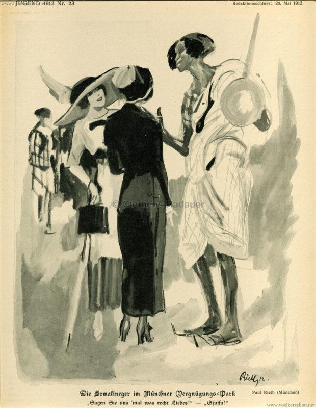 1912 Die Jugend - Die Somalineger im Münchner Vergnügungspark