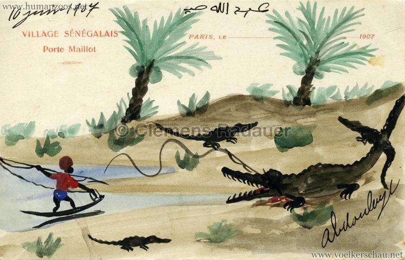 Porte Maillot - Village Sénégalais - Krokodiljagd ABDOULAYE