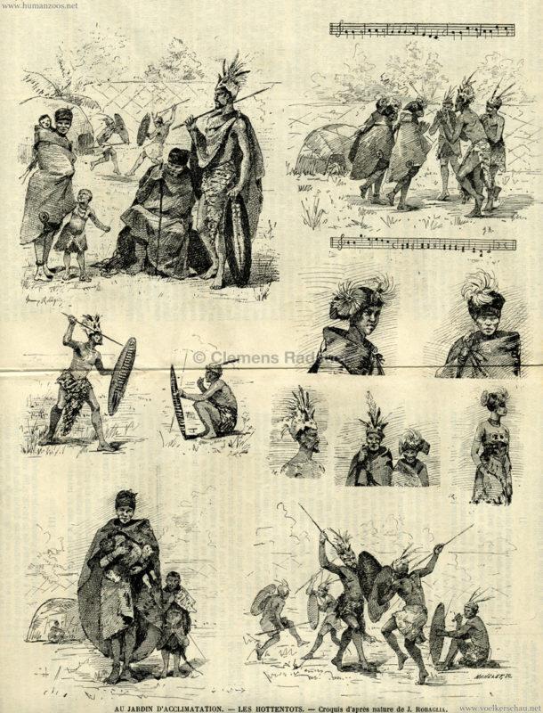 1888.09.16 Le Voleur Illustre No 1624 - Les Hottentots au Jardin d'Acclimatation Illustration