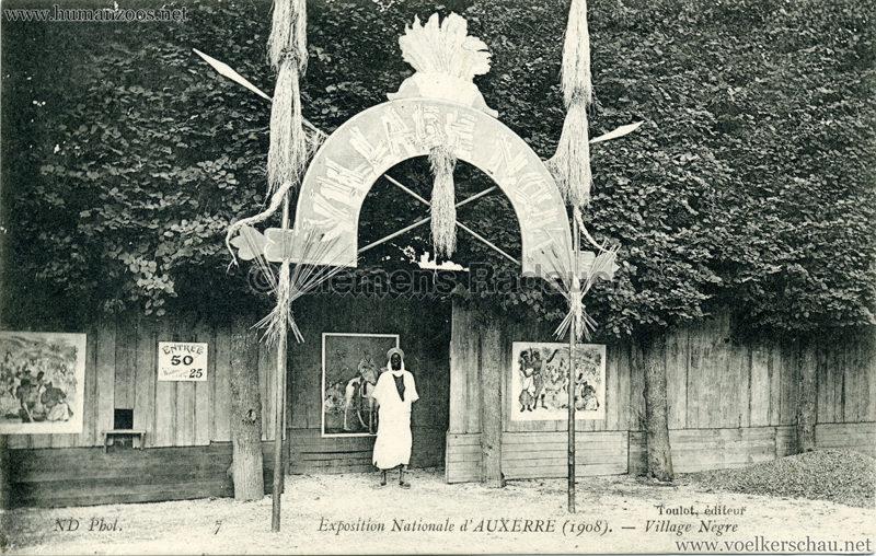 1908 Exposition d'Auxerre - Village Noir