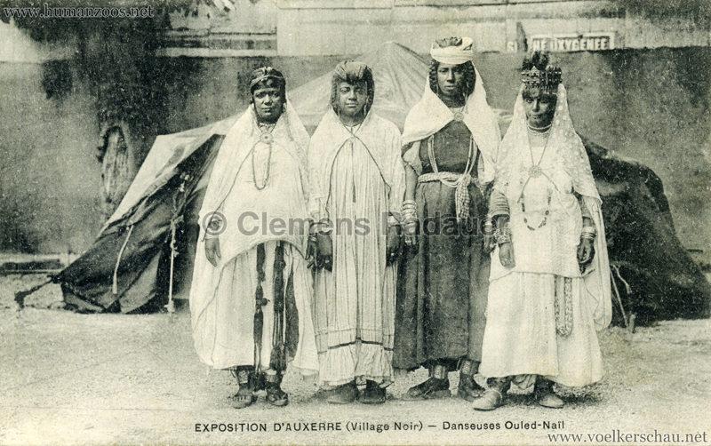 1908 Exposition d'Auxerre - Village Noir - Danseuses Ouled-Nail