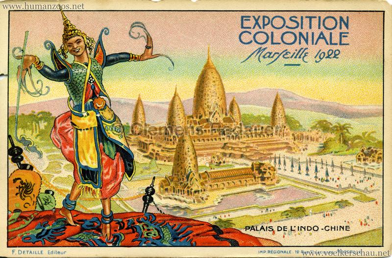 1922 Exposition Nationale Coloniale Marseille Palais de l'Indo-Chine