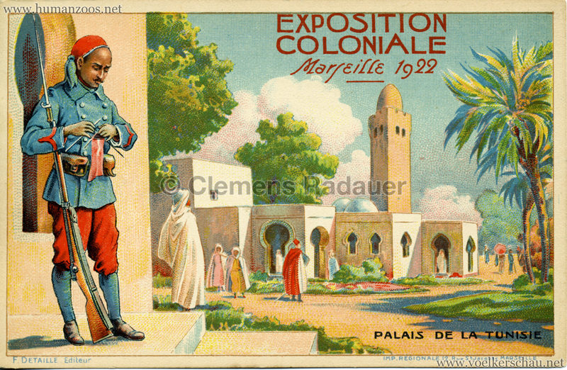 1922 Exposition Nationale Coloniale Marseille Palais de la Tunesie