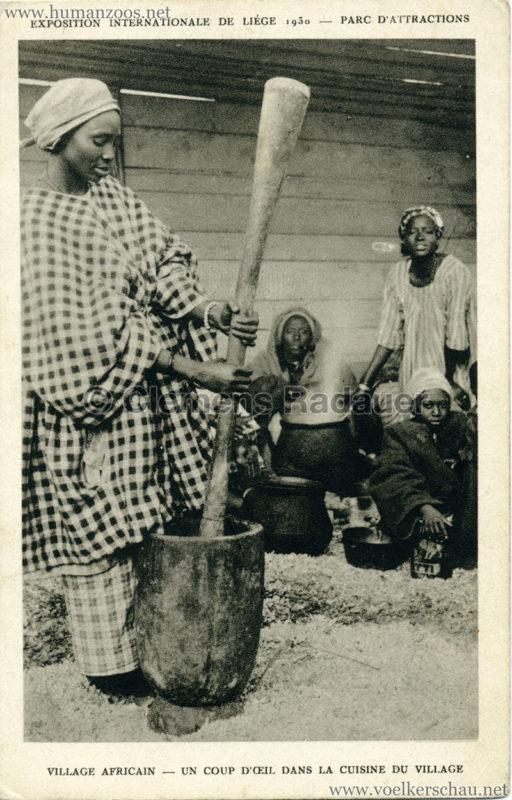 1930 Exposition Internationale de Liége - Village Africain - Un coup d'oeil dans la cuisine du village