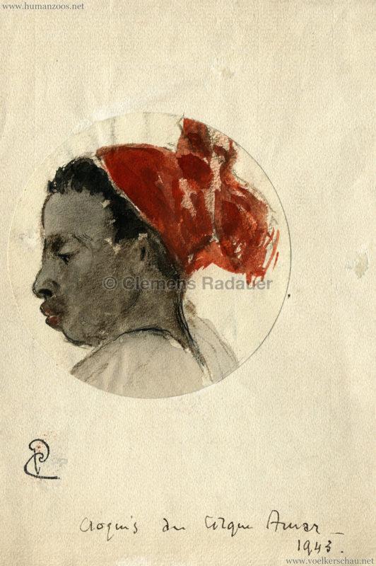 Cirque Amar Zeichnung 1 (1943)