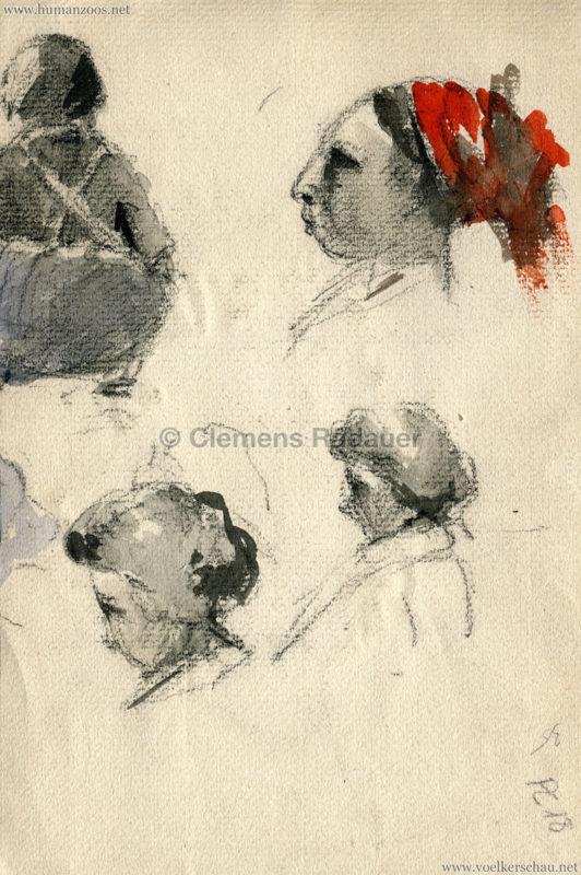 Cirque Amar Zeichnung 1 (1943) RS