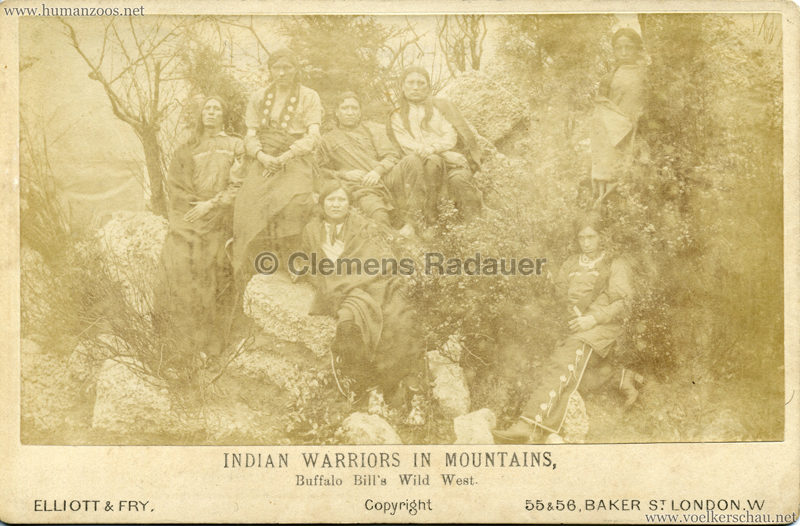 1887 Buffalo Bill's Wild West - Indian Warriors in Mountains CDV