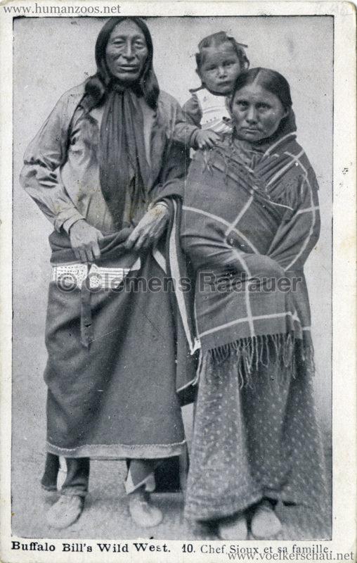 Buffalo Bill's Wild West - 10. Chef Sioux et sa famille gel. 19.11.1905